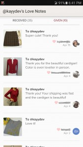 Poshmark Seller Rating Love Notes