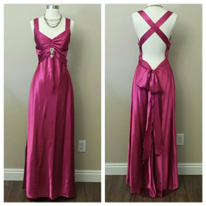 raspberry pink formal dress collage