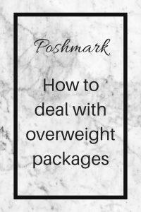 poshmark overweight package