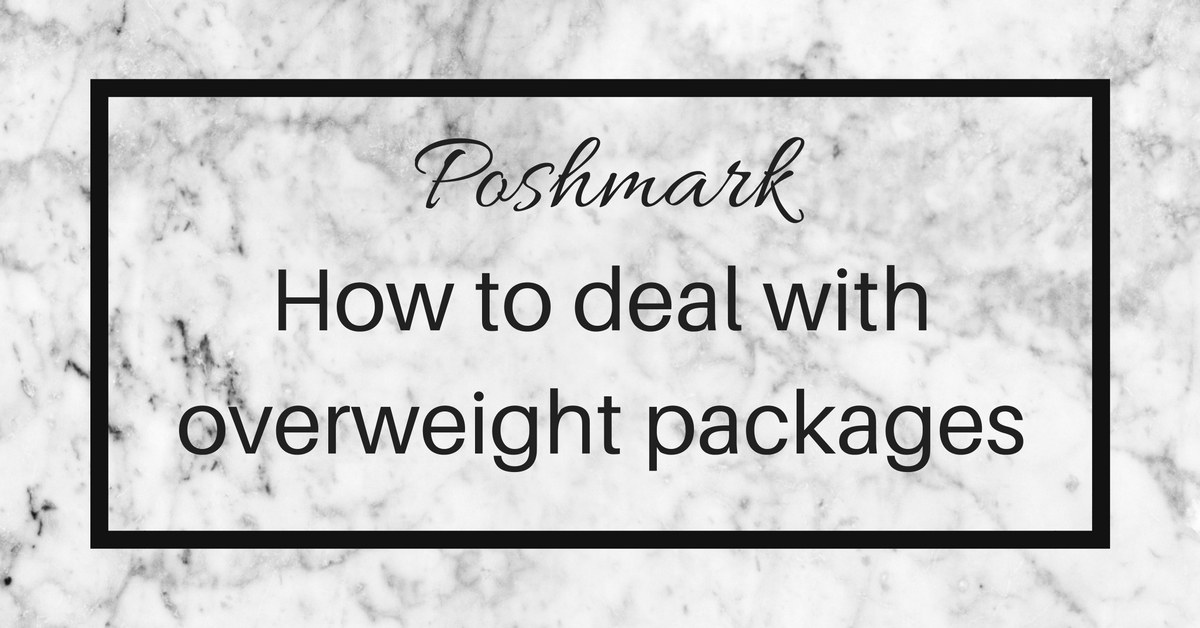 poshmark overweight shipping labels